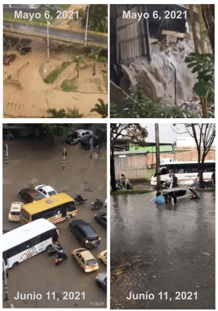 Inundaciones rio Medellín