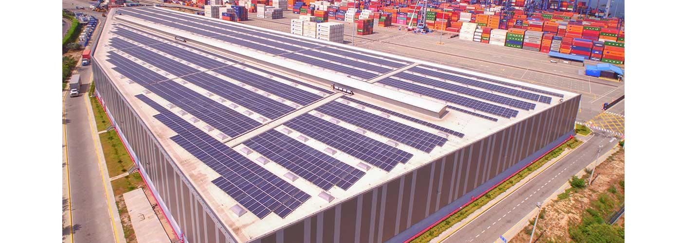 megatecho solar en Puerto de Cartagena