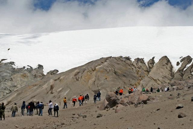 Nevado del Ruiz, en Colombia