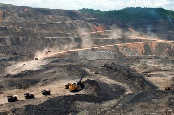 explotación de minerales, en este caso carbón