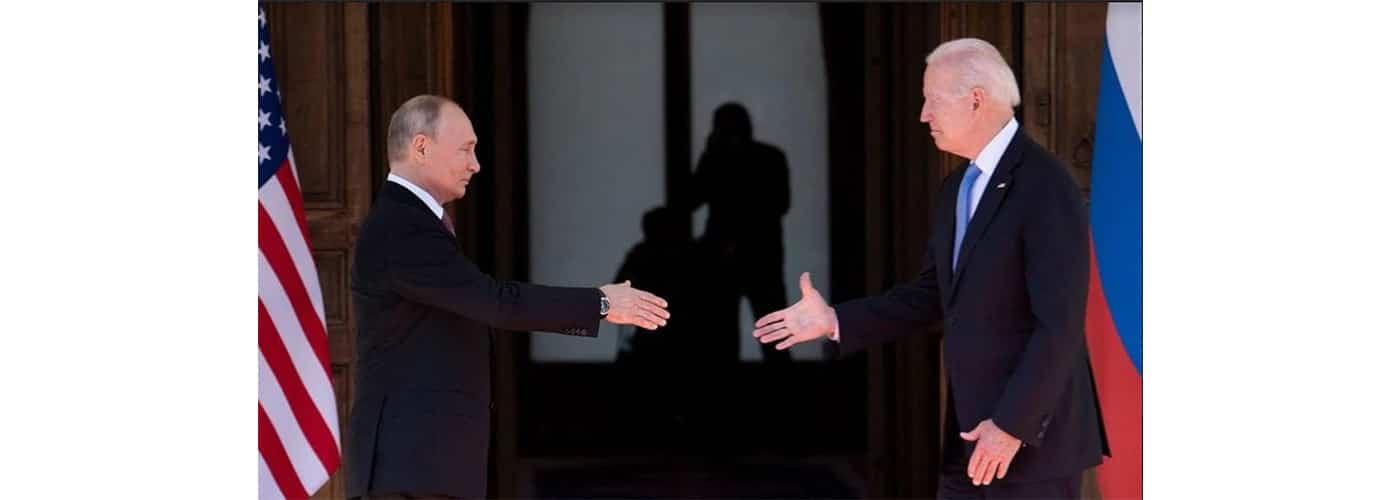 Vladimir Putín y Joe Biden, Ginebra, Suiza