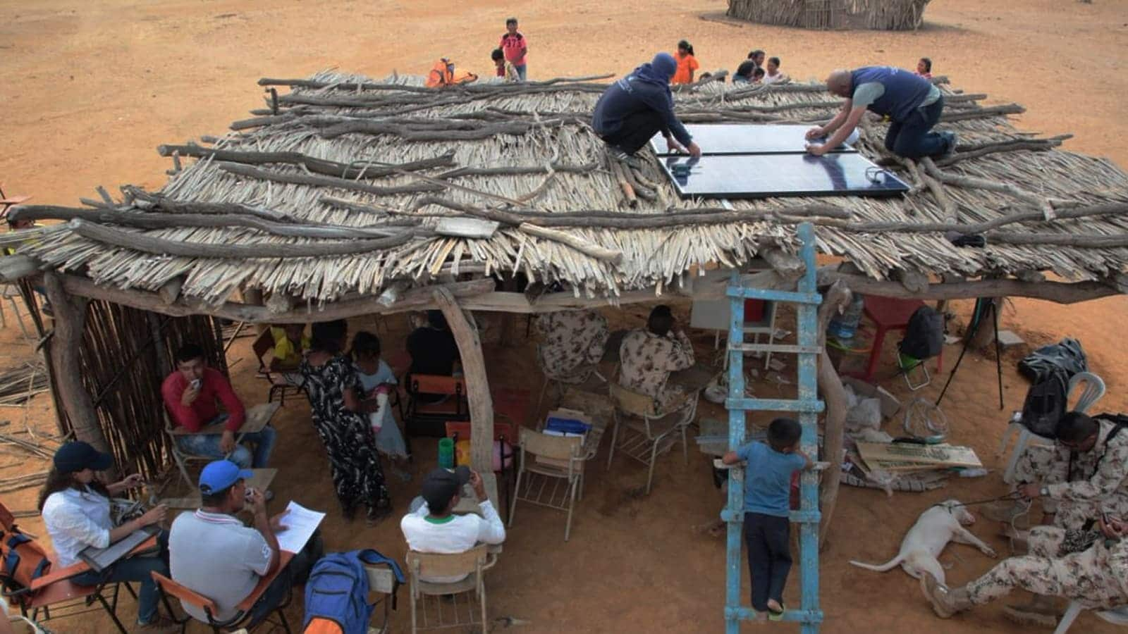 paneles solares rurales
