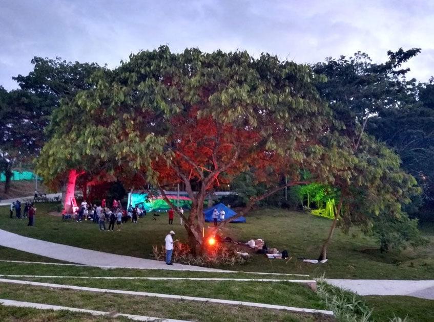 Vegachí es el primero en inaugurar un espacio público verde