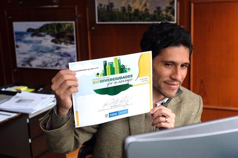 viceministro de Ordenamiento Ambiental del Territorio, Nicolás Galarza