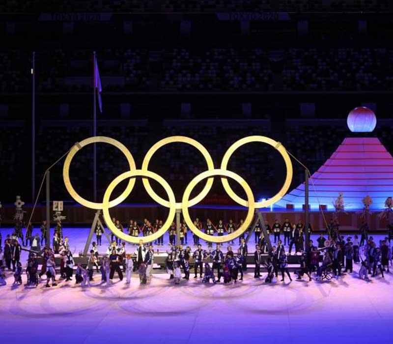 Los anillos olímpicos de Tokyo2020