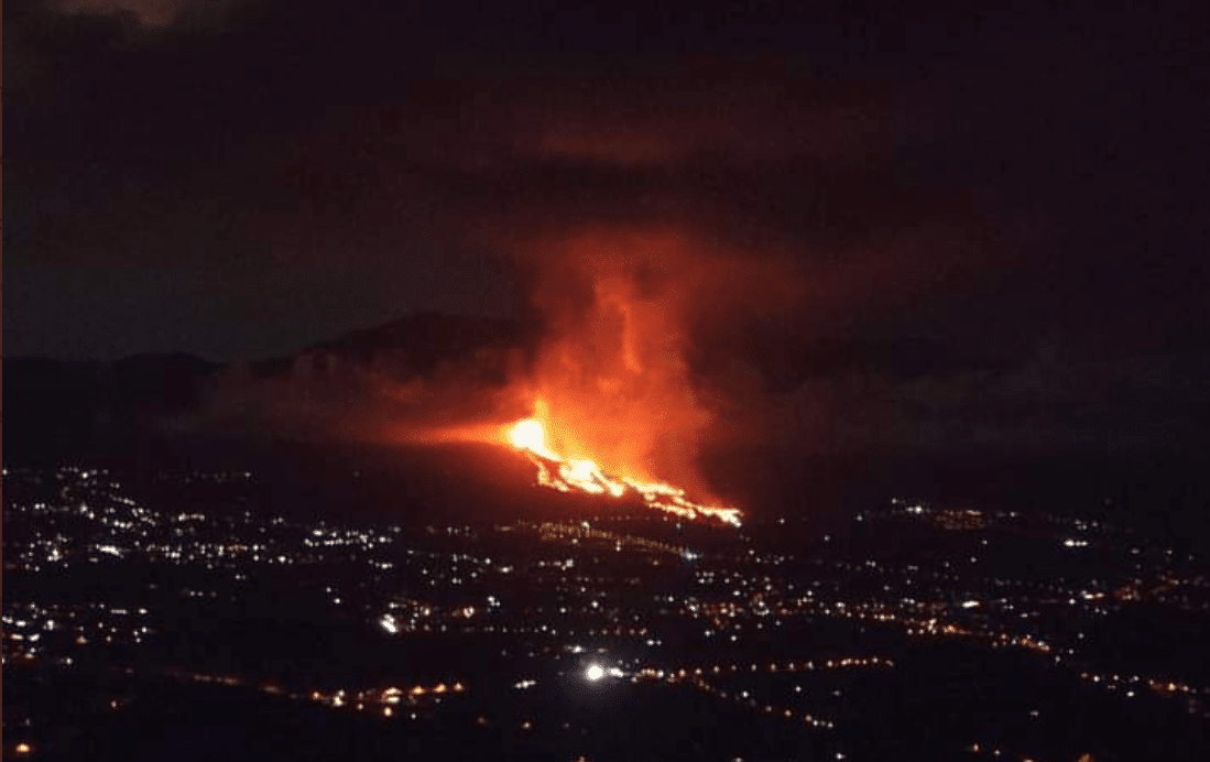 volcán, calidad del aire