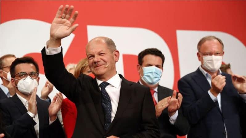 El candidato socialdemócrata, Olaf Scholz