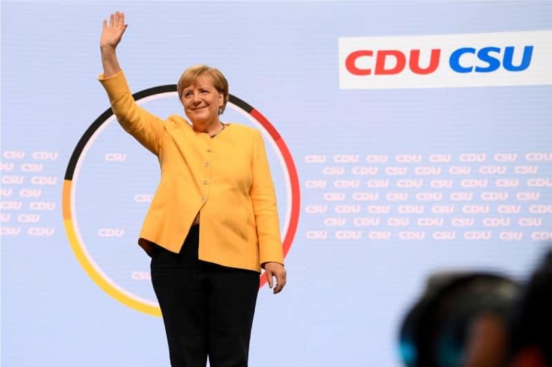 La saliente canciller alemana, Ángela Merkel